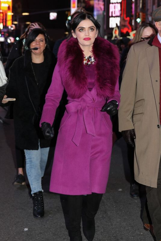 LUCY HALE Out at Times Square in New York 12/31/2019