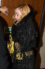MADONNA Leaves the Madame X Tour at the London Palladium 01/29/2020