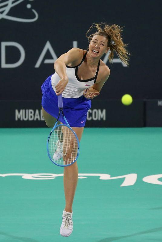 MARIA SHARAPOVA at Mubadala World Tennis Championship in Abu Dhabi 12/19/2019