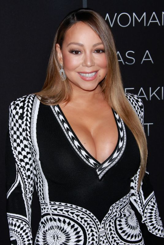 MARIAH CAREY at A Fall from Grace Premiere in New York 01/13/2020