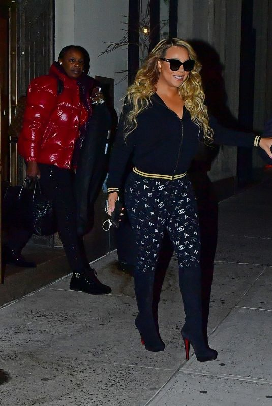MARIAH CAREY Out for Dinner in New York 01/14/2020
