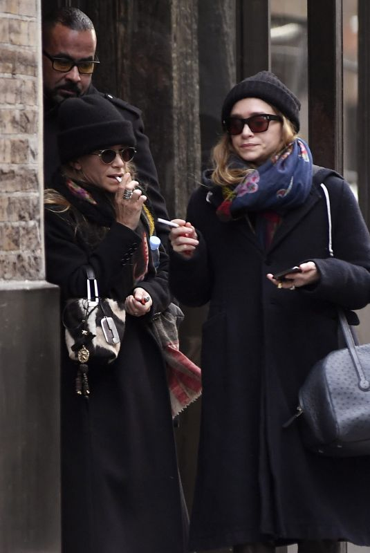 MARY KATE and ASHLEY OLSEN at Their Office in New York 01/05/2020