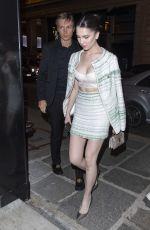 MAYA HENRY Leaves Her Hotel in Paris 01/20/2020