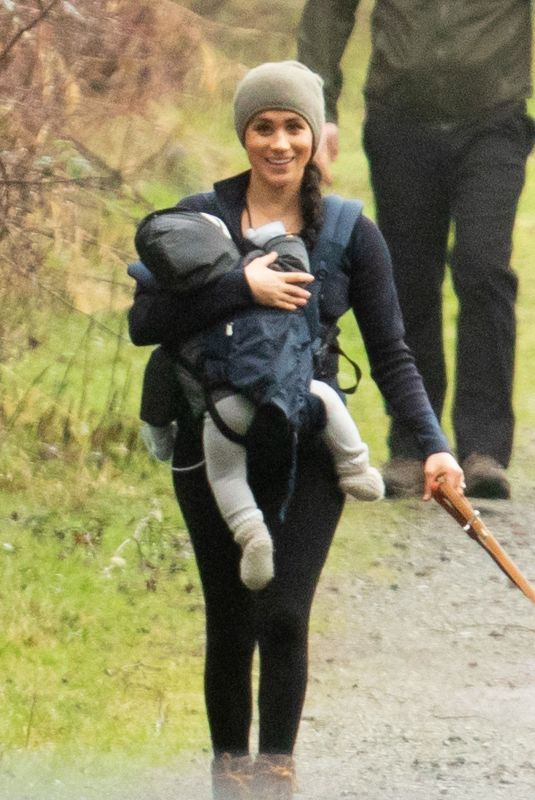 MEGHAN MARKLE Out at a Park in Victoria, Canada 01/20/2020