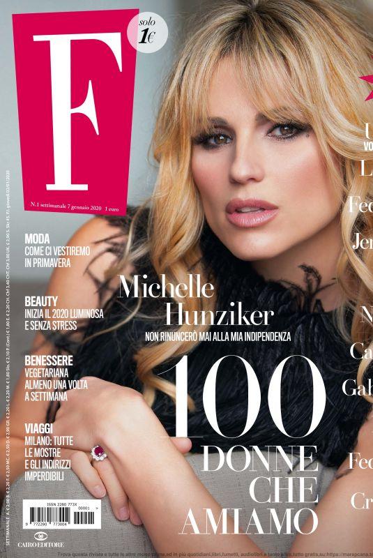 MICHELLE HUNZIKER in F Magazine, January 2020