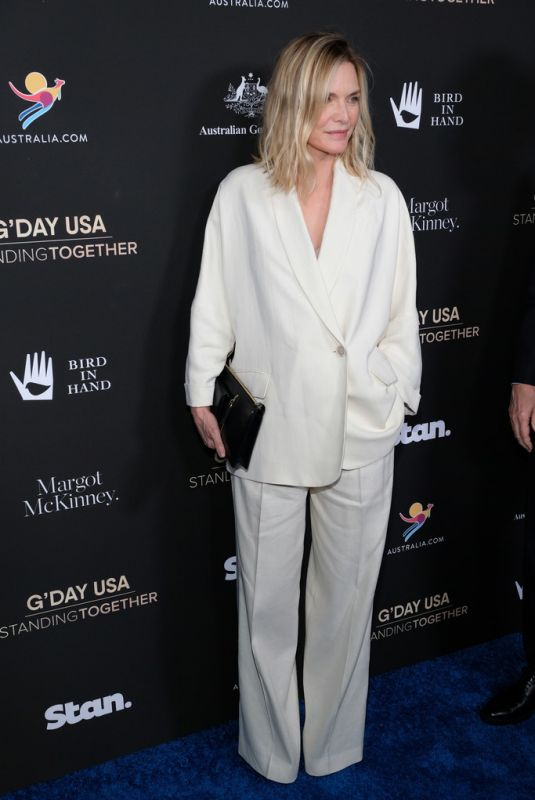 MICHELLE PFEIFFER at G'Day USA 2020 in Beverly Hills 01/25/2020