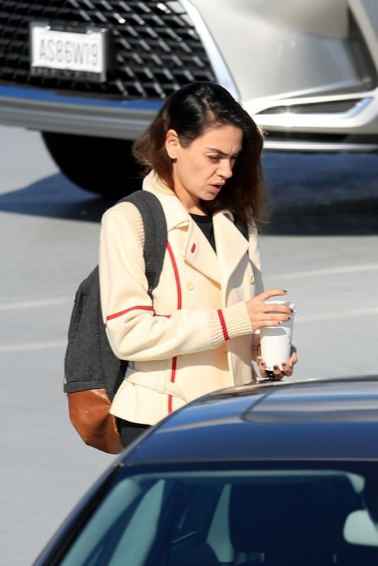 MILA KUNIS Heading to a Meeting in Beverly Hills 01/21/2020