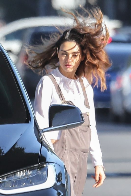 MILA KUNIS Out and About in Los Angeles 01/31/2020