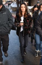 MILA KUNIS Out and About in Park City 01/25/2020