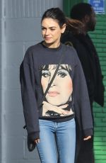 MILA KUNIS Out for Coffee in Beverly Hills 01/27/2020