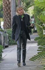 MILEY CYRUS Arrives at a Studio in West Hollywood 01/17/2020