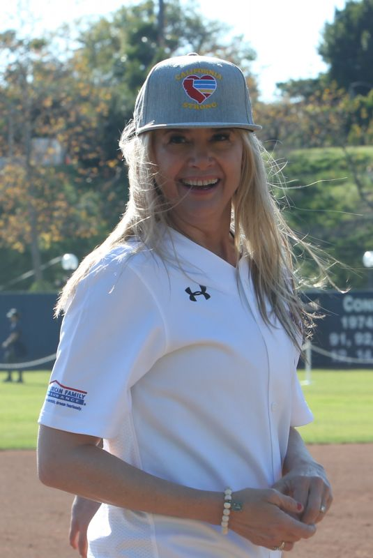 MIRA SORVINO at California Strong Celebrity Softball Game in Malibu 01/12/2020