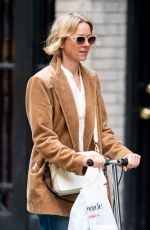 NAOMI WATTS on a Scooter Out in New York 01/11/2020
