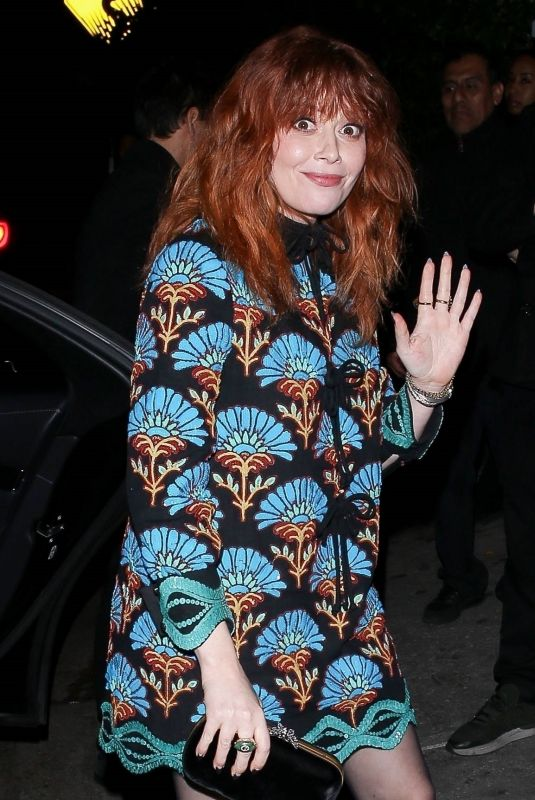 NATASHA LYONNE Leaves Golden Globe Pre-party at Chateau Marmont in Hollywood 01/04/2020
