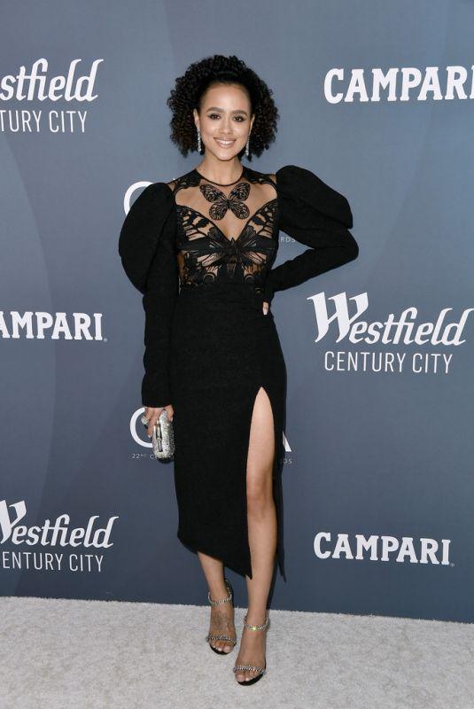 NATHALIE EMMANUEL at 22nd Costumes Designers Guild Awards in Beverly Hills 01/28/2020