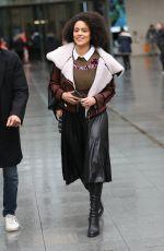 NATHALIE EMMANUEL Leaves BBC Studios in London 01/14/2020