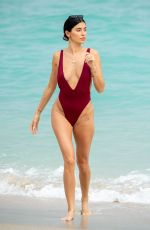 NICOLE WILLIAMS in Swimsuit on the Beach in Miami 01/27/2020