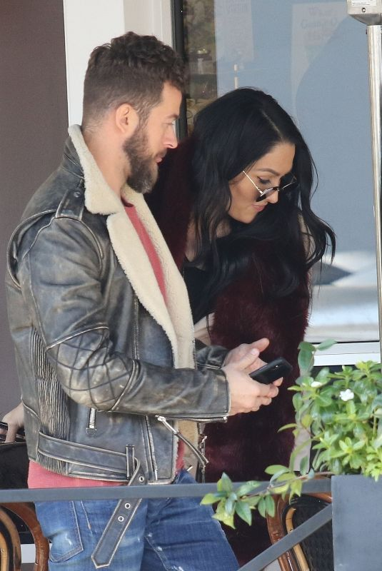 NIKKI BELLA and Aartem Chigvintsev Out for Lunch in Los Angeles 01/09/2020