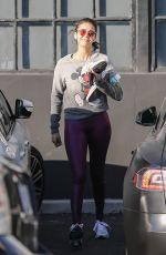 NINA DOBREC Leaves Gym in West Hollywood 01/11/2020
