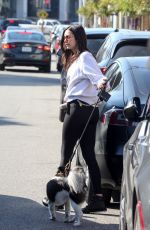 NINA DOBREV Out with Her Dog in West Hollywood 01/12/2020