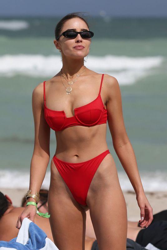 OLIVIA CULPO in a Red Bikini at a Beach in St Barth 01/10/2020