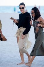 OLIVIA PALERMO Out with Friends on the Beach in Miami 01/03/2020