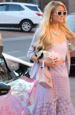 PARIS HILTON Driving Her New Electric BMW Car Out in Beverly Hills 01/22/2020