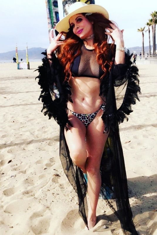 PHOEBE PRICE at a Photoshoot in Venice Beach 01/30/2020