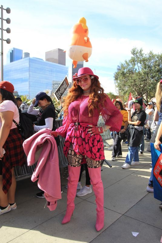 PHOEBE PRICE at Women's March in Los Angeles 01/18/2020