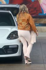 Pregnant MESLISSA COHEN at a Gas Station in Los Angeles 12/30/2019