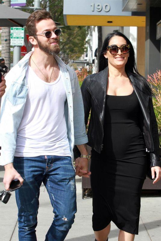 Pregnant NIKKI BELLA and Artem Chigvintsev Out for Lunch in Beverly Hills 01/30/2020