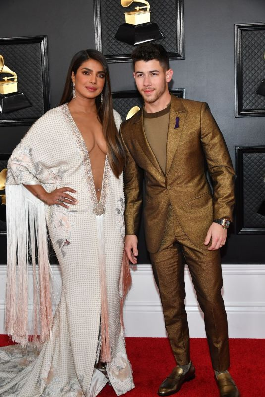 PRIYANKA CHOPRA and Nick Jonas at 62nd Annual Grammy Awards in Los Angeles 01/26/2020