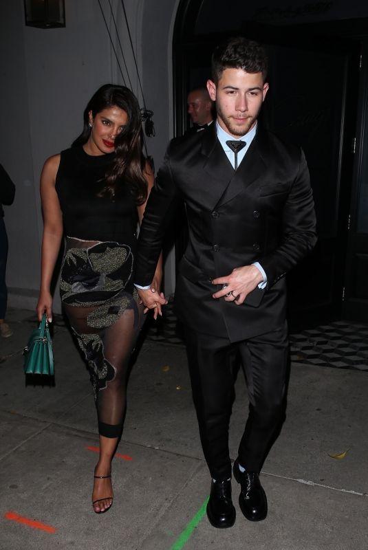 PRIYANKA CHOPRA and Nick Jonas Nigh Out in Hollywood 01/05/2020