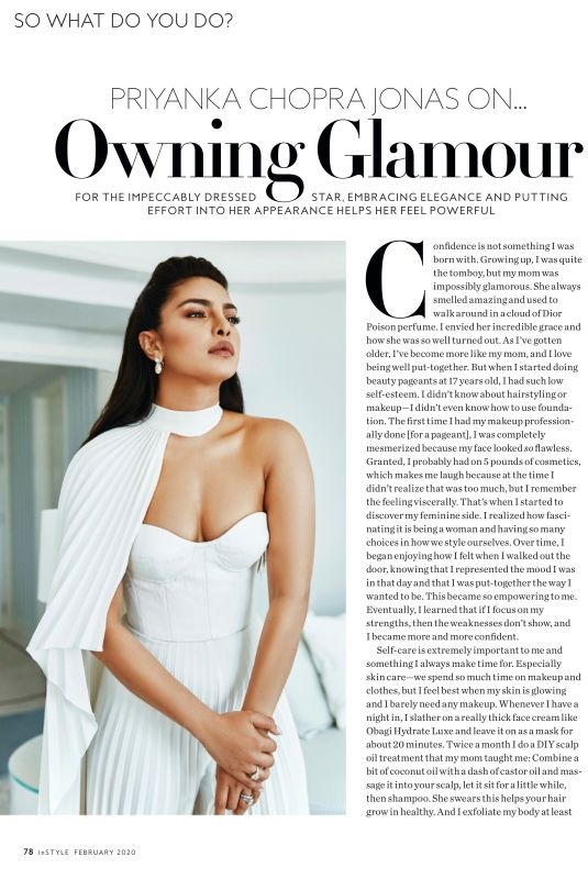 PRIYANKA CHOPRA in Instyle Magazine, February 2020