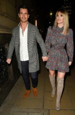 RHIAN SUGDEN and Oliver Mellor at Hawksmore Restaurant in London 01/30/2020