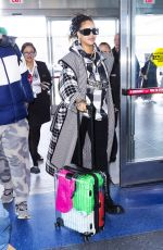 RIHANNA Arrives at JFK Airport in New York 01/21/2020