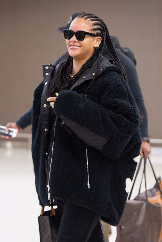 RIHANNA at JFK Airport in New York 01/05/2020