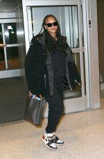 RIHANNA at JFK Airport in New York 01/05/2020