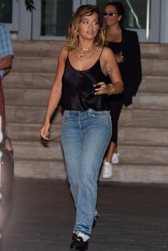 RITA ORA Leaves Her Hotel in Miami Beach 01/11/2020