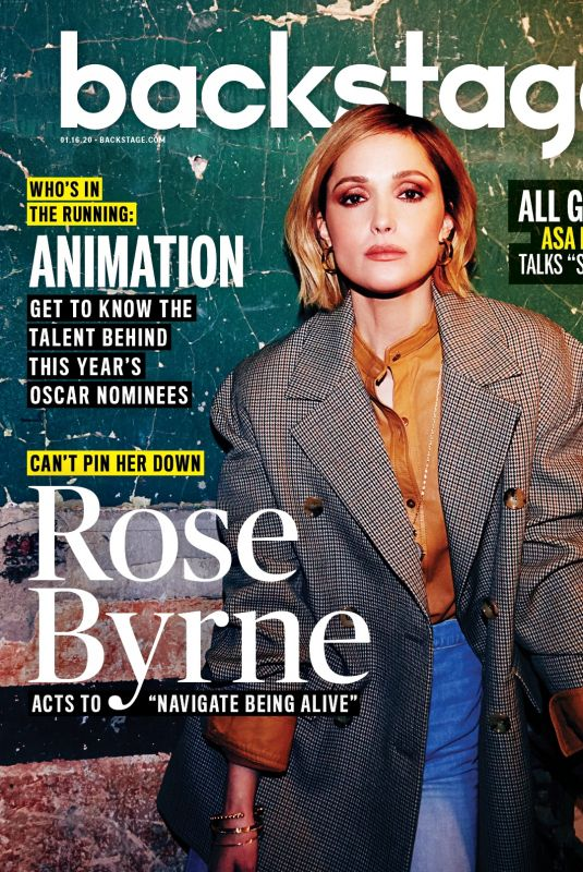 ROSE BYRNE for Backstage Magazine, January 2020