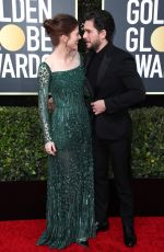 ROSE LESLIE and Kit Harington at 77th Annual Golden Globe Awards in Beverly Hills 01/05/2020