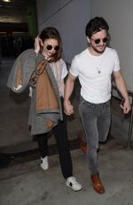 ROSE LESLIE and Kit Harington at LAX Airport in Los Angeles 01/06/2020