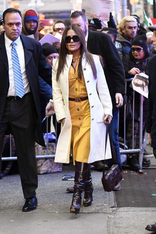 SALMA HAYEK Arrives at Good Morning America Studio in New York 01/07/2020
