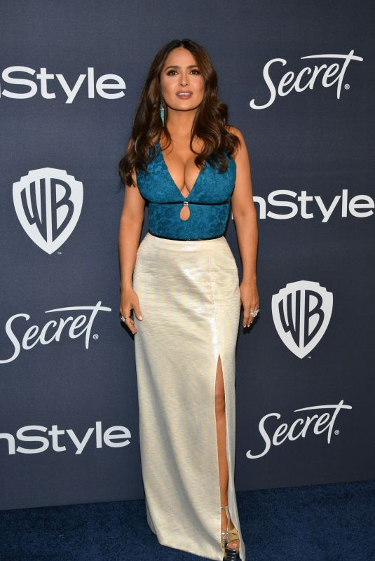 SALMA HAYEK at Instyle and Warner Bros. Golden Globe Awards Party 01/05/2020