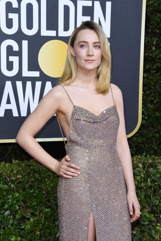 SAOIRSE RONAN at 77th Annual Golden Globe Awards in Beverly Hills 01/05/2020