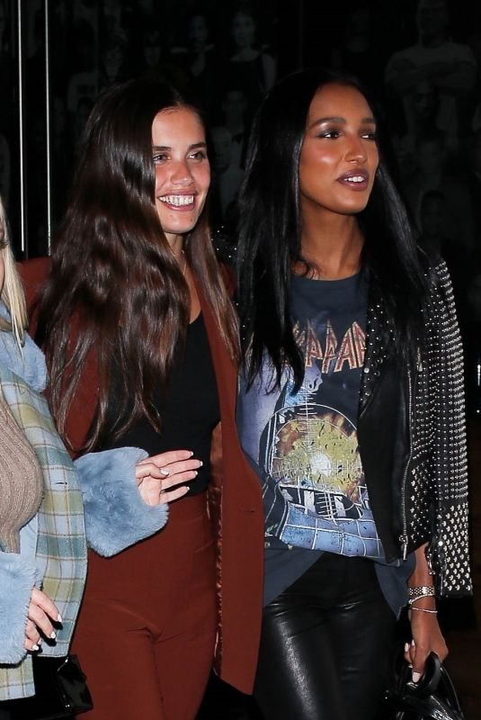 SARA SAMPAIO and JASMINE TOOKES at Catch LA in West Hollywood 01/10/2020
