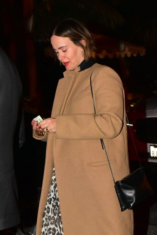 SARAH PAULSON Out for Dinner in West Hollywood 01/29/2020