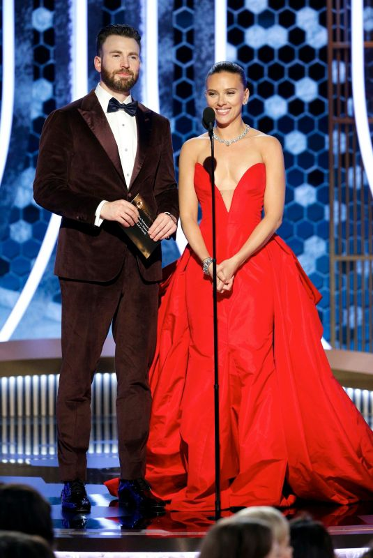 SCARLETT JOHANSSON and Chris Evans at 77th Annual Golden Globe Awards in Beverly Hills 01/05/2020