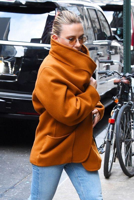 SCARLETT JOHANSSON Arrives at a Press Junket in New York 01/08/2020