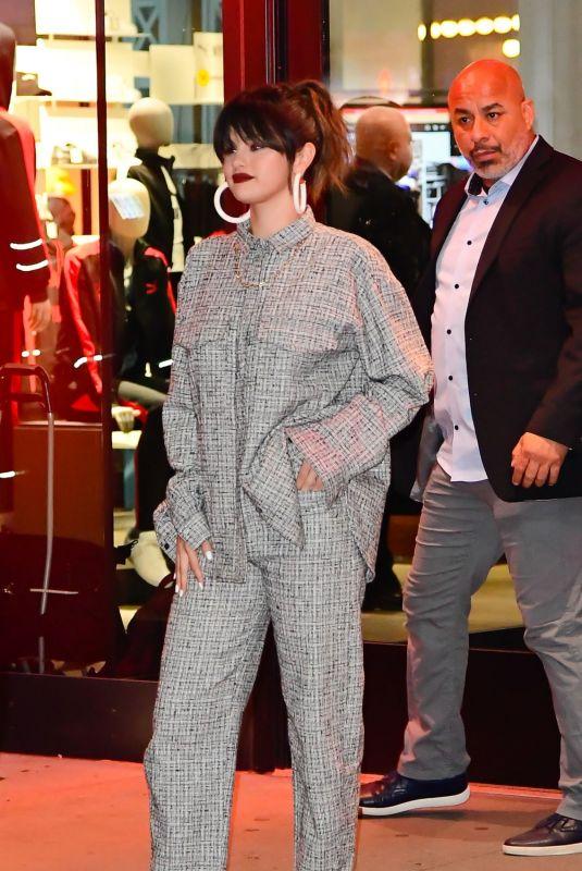 SELENA GOMEZ Leaves Puma Store in New York 01/14/2020